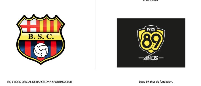 Por los 89 años, el logo especial de Barcelona SC