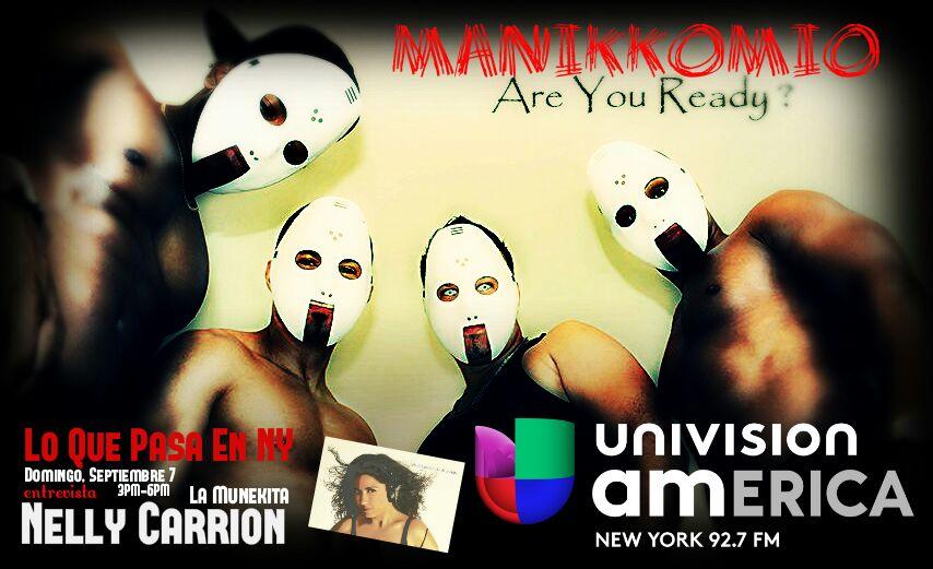 Entrevista MANIKKOMIO por Univision America 4pm NY - EVAFM 3pm ECU