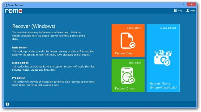 Remo Recover para Windows: recuperación de datos fácil y rápida