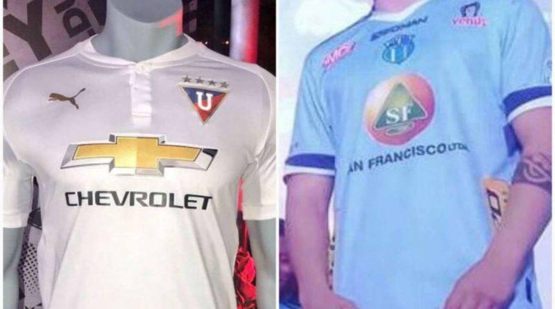 Liga de Quito y Macará presentaron las nuevas camisetas para la temporada 2018