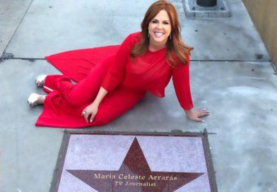 María Celeste Arrarás recibió su estrella en el Paseo de las Estrellas de Las Vegas