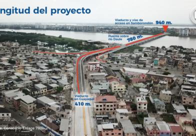 Nuevo puente Guayaquil-Samborondón, con cuenta regresiva