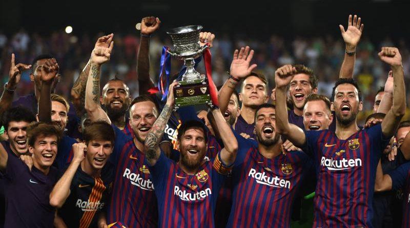 FC Barcelona campeón de la Supercopa de España tras derrotar 2-1 al Sevilla