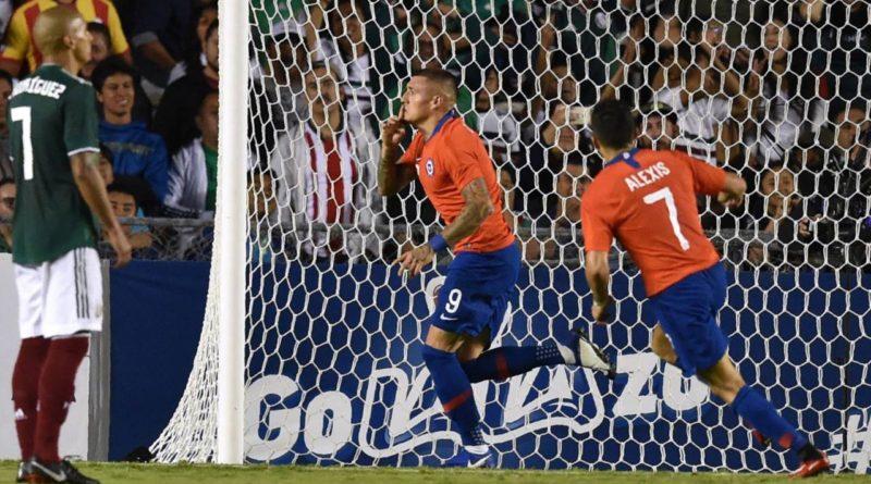 Chile rompió empate en últimos minutos y le ganó 1-0 a México en amistoso