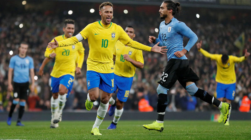 Brasil celebra en Londres victoria ante Uruguay
