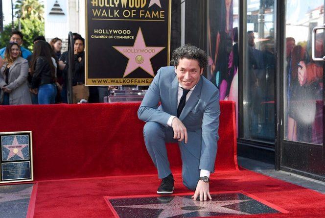 Gustavo Dudamel ya tiene su estrella en el Paseo de la Fama