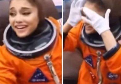 Ariana Grande visita la NASA; usa traje de astronauta