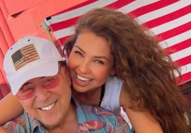 Thalía celebró los 20 años de su boda con Tommy Mottola
