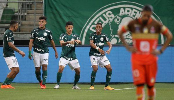 Palmeiras destrozo a Delfin 5 – 0 Copa Libertadores