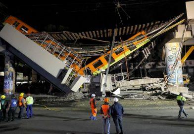 Se desplomó un tramo del metro en Ciudad de México